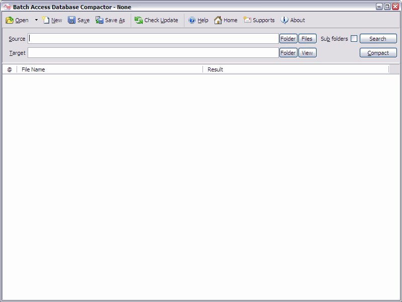 Click to view Batch Access Database Compactor 2011.3.827 screenshot