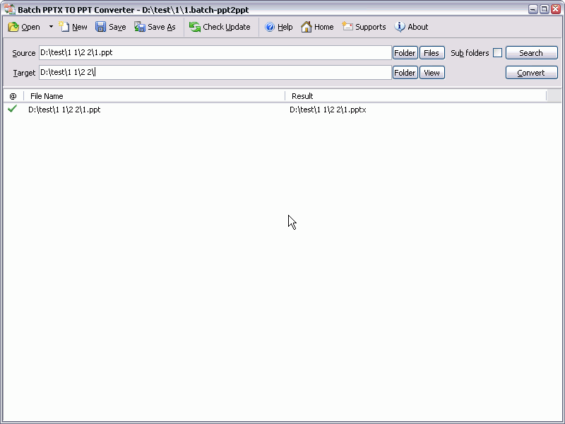 Batch PPTX to PPT Converter full screenshot